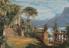 WALL TAPESTRY Lodge at Lake Como by Aagaard MEDITERRANEAN LANDSCAPE ART PICTURE
