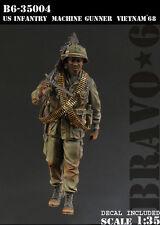 BRAVO-6 35004 U.S. Machine Gunner, Vietnam '68 1/35 RESIN FIG.