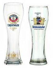 Erdinger & Weihenstephaner Glasses German Beer Glass Sampler Set