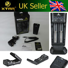 XTAR WP2S Dual Channel 3.7V Li-ion IMR Battery Charger 18350/18650 UK/EU Version