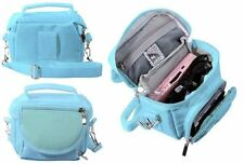 BLUE TRAVEL BAG CARRY CASE FOR NINTENDO 3DS DS LITE DSi XL - SHOULDER STRAP