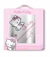 Hello Kitty 041793 Geschenkbox Coccinelle Badeponcho + Waschhandschuh Badetuch
