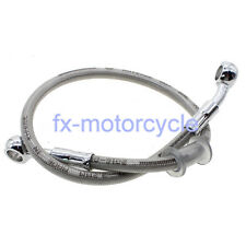 390mm Motorcycle Brake Oil Hose Line Fitting Stainless Steel Braided