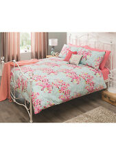 Shabby Chic George Vintage Stippled Floral DOUBLE Duvet Cover + 2 Pillowcase