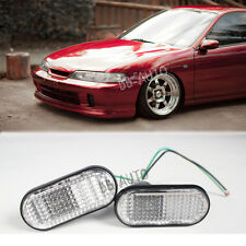 94-01 Integra DC2 JDM Flat CLEAR Side Marker Lights Lamp Replacement Fender