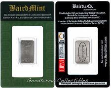 *Rhodium Bar 1/10 oz Baird & Co London .999 Pure Rh - RAREST PRECIOUS METAL*
