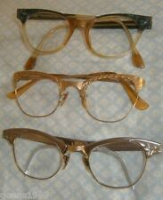 Vtg Lot 3 Cateye CATS EYE EYEGLASS SUNGLASSES FRAMES ONLY 2 piar GF Free Ship
