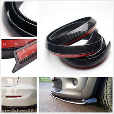 2.5m Carbon Fiber Bumper Lip Valance Splitter Chin Spoiler Skirt Trim Decoration