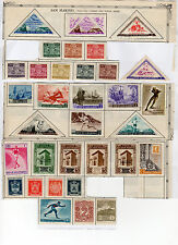 33 Unused SAN MARINO Postage Stamps - Airmails, Triangles, Overprints - See Scan