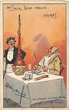 POSTCARD   COMIC   Mr  Smith's  tramp  abroad   NAPLES       D  Hardy
