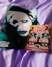 Marilyn Manson  kerrang  centrefold poster plus twins of evil a5 flyer excellent