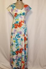 TORI RICHARD Honolulu Vtg Vibrant Floral Hawaiian Maxi Dress sz.6/S-M