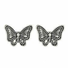 925 Sterling Silver Antique butterfly ear stud Earrings cute boxed