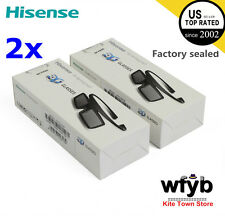 2X Brand New Hisense 3D Active Shutter Glasses FPS3D08 For 2014 TV K390PAD