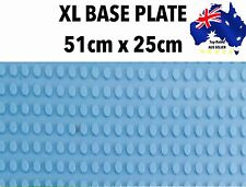 "XL DUPLO BASE PLATE MEGA BLOK BIG BLOCKS 51x25cm 20x10"" 16x32studs BLUE KID GIFT"