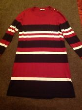Red/Navy/Cream Knitted Dress From Tu Size 16