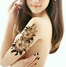 White Lilly Flower Temporary Tattoos Stickers Body Art 3D Flora Tatoo Waterproof