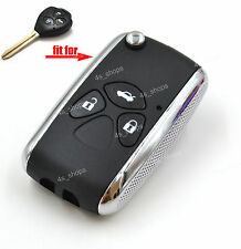 Flip Folding Remote Key Upgrade Case Refit Shell For Toyota Avalon Camry Corolla