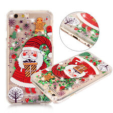 Dynamic Glitter Quicksand 3D Christmas Patterned Case Cover For iPhone 6s 7 Plus