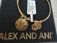 Alex and Ani Because I Love You GRANDMOTHER Russian Gold Bangle NWT Card & Box