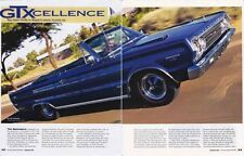 1967 PLYMOUTH BELVEDERE HEMI GTX   ~  GREAT 5-PAGE ARTICLE / AD