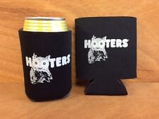 Hooters Black Beer Koozies Can Cooler Coozie - Two 2 Pack -  New & Free Shipping