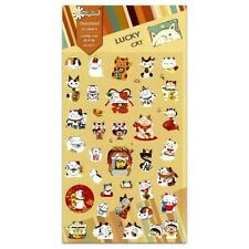 CUTE LUCKY CAT STICKERS Maneki Neko Kawaii Paper Sticker Sheet Craft Scrapbook