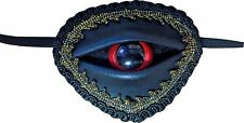 Steampunk Buccaneer Pirate Gothic Red Eye Ball Eye Patch Costume Accessory