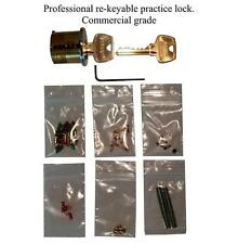 "Professional ""You Build It"" Practice lock Kit. Commercial Grade, Spool/Serr pin"