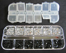 3000pcs 2mm RHINESTONES GEMS CRYSTALS DIAMONDS 7 DIFFERENT KINDS TO CHOOSE FROM