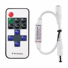 12V RF Wireless Remote Switch Mini Controller Dimmer for LED Strip Light