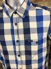Wrangler Long Sleeve Shirt Blue Checked Size Large