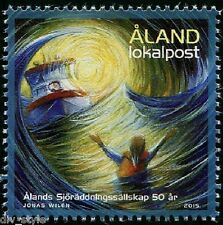 Marine Rescue 50 years Aland (Finland) mnh stamp 2015