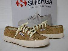 Superga Size 7 M Shiny Cork Fashion Sneakers New Womens Shoes