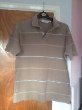 Fraser Para Hombre Camisa Polo De Rayas de Color Beige Talla L