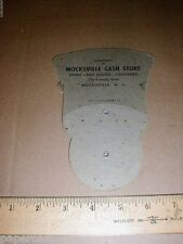 Vintage Mocksville North Carolina NC Cash Grocery Store old fold-out church fan