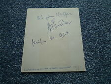GERD BRÜDERN (+1968 !) u EDDI ARENT (+) signed Autogramm In Person WINNETOU May