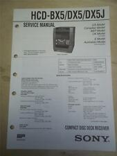 Sony Service Manual~HCD-BX5/DX5/DX5J Stereo Component System~Original~Repair