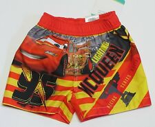 NWT Disney Baby Cars Lightning McQueen Infant Boys Swim Suit Trunks Size 12 M