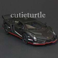Kinsmart Lamborghini Veneno 1:36 Diecast Toy Car Matte Black
