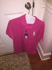 NWT Polo Ralph Lauren Shirt BIG PONY Custom Fit XXL Ultra Pink Short Sleeve