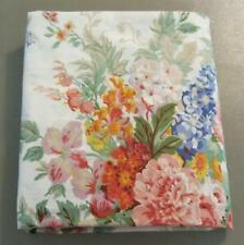 Ralph Lauren Beach House Sheet Queen Flat Bright Florals White Bkgd