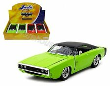 JADA 1:24 DISPLAY BIG TIME MUSCLE - 1970 DODGE CHARGER R/T Diecast Car Green