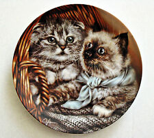 Baskets of Love Alexei Isakov Collector Plate Heather & Hannah Cats Kittens Cat