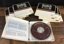 """Lot 7 Scotch 150 Recording Tape 7"""" Recorded 70's Rock Music All Tested No Shed"""