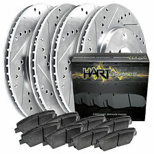 [FULL KIT] PLATINUM HART DRILLED SLOT  BRAKE ROTORS AND CERAMIC PAD PHCC.5105402