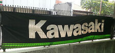 New Kawasaki Banner Flag Garage Display Size 220 cm x 85 cm