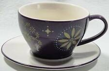 Starbucks Cup and Saucer Purple with Gold Star Large 12 Ounce Latte Size 2006