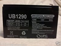 "UB1290 F2 .25"" Sealed Lead Acid Battery Security Alarm Back up battery"