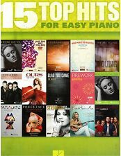 Top Hits Easy Piano Sheet Music Lyrics Guitar Chords Christina Perri, Adele, fun